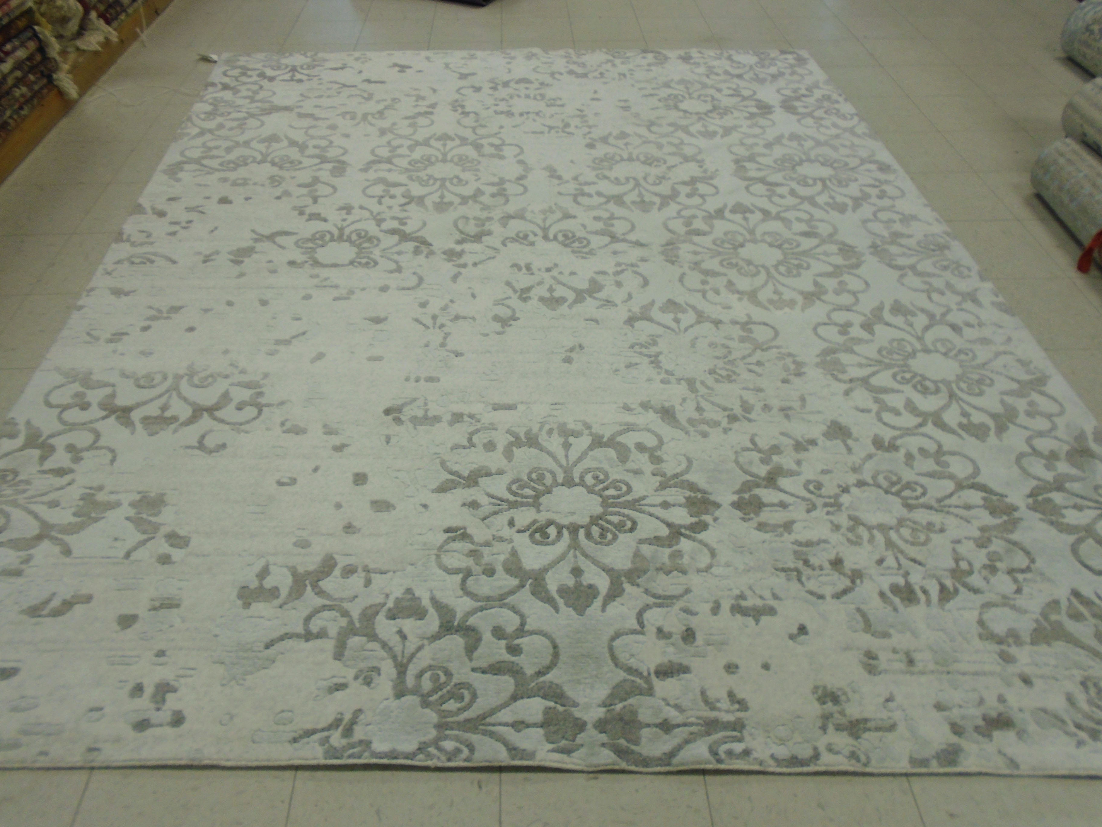 Clean Bamboo Silk Rug After 1