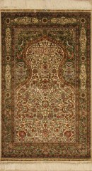 Chinese Silk Prayer Rug