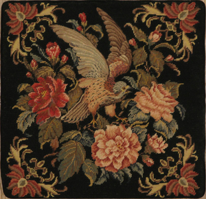 Pillow Needlepoint Black Falcon_product